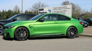 INSIDE the BMW M4 in JAVA GREEN (M-PERFORMANCE PARTS)