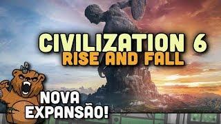 Video NOVA EXPANSÃO ANUNCIADA!   Civilization 6 Rise and Fall - Gameplay Português PT-BR download MP3, 3GP, MP4, WEBM, AVI, FLV Januari 2018