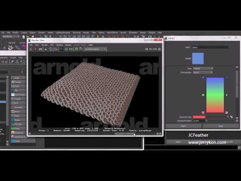 jcFeather lesson_11 Textured Polygons For Arnold