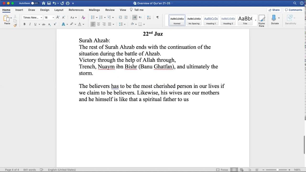 Sh. Zubair || Quranic Overview (Juz 22)