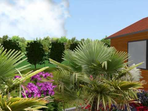 amenagement jardin 63 plan 3d jardin youtube. Black Bedroom Furniture Sets. Home Design Ideas