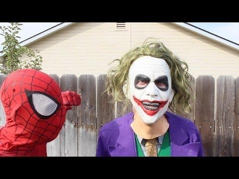 Spiderman Vs Crazy Joker In Real Life | Spider-Man Avengers Videos Part 43