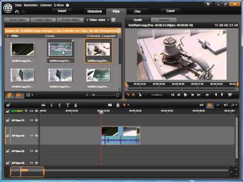 Medien zur Timeline hinzufügen in Avid studio und Pinnacle Studio