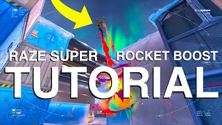 How to RAZE SUṖER JUMP CONSISTENTLY - VALORANT Super Rocket Boost Tutorial