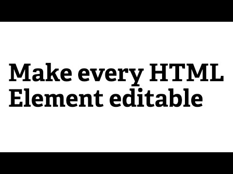 Screencast #35: Make Every HTML Element Editable