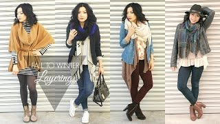 FALL TO WINTER FASHION LOOKBOOK - Layering Outfits collab w/ Lexi Love  | MISSYANYI