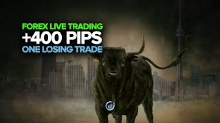 Forex Live Trading +400 Pips Made With Only ONE Losing Trade!