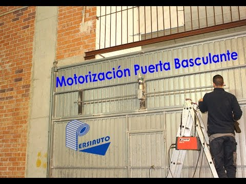 Motorizaci n completa puerta basculante garaje youtube - Puerta basculante garaje ...
