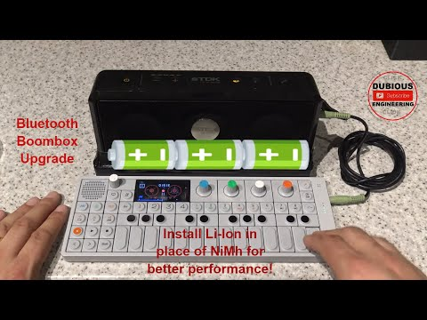 DuB-EnG: Hack A Bluetooth Boombox TDK A33 Retrofit With Re-purposed Lithium Ion Laptop Batteries BMS