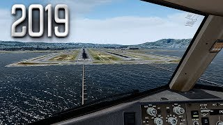 new Flight Simulator 2019 in 4K  Spectacular Approach and Landing in San Francisco  Ultra Realism