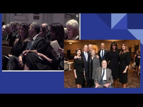MELANIA TRUMP PRAISES BARACK & MICHELLE FOR BEING SO KIND TO HER AT  BARBARA BUSH FUNERAL