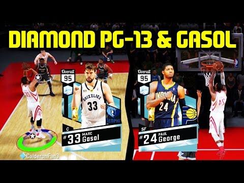 DIAMOND PAUL GEORGE & MARC GASOL TEAR IT UP! NBA 2K17 MYTEAM GAMEPLAY