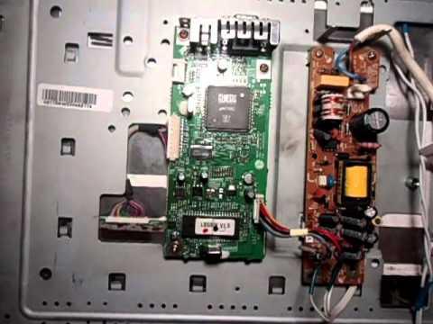 Установка блока питания от DVD на монитор  LG L1510S и переделка в LED.