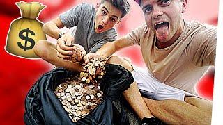 SHOPPEN mit 10.000 CENT Stücken! (Rausgeworfen aus Laden 🙃)