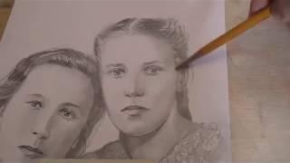 Наброски портретов по старым фотографиям. Художник Ревякин