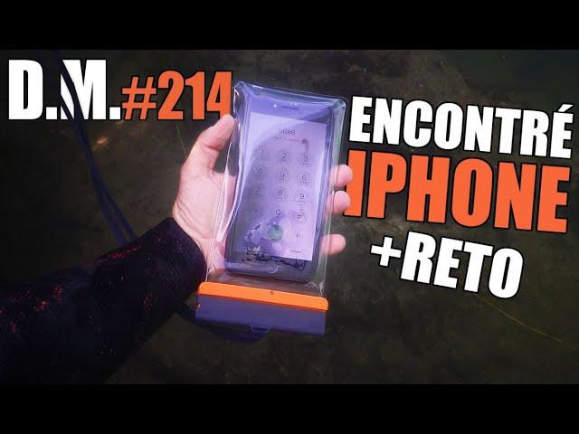 ENCUENTRO un iPhone + RETO en el río *teléfono devuelto* - Detección Metálica 214