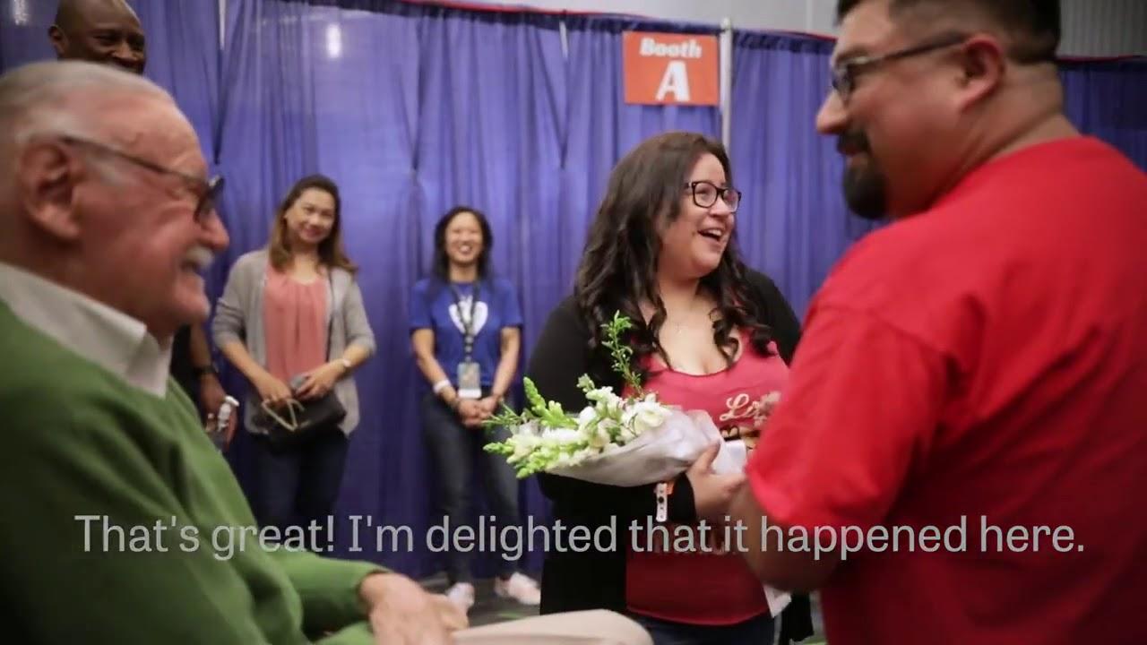 Stan Lee Receives A Wedding Proposal At Silicon Valley Comic Con 2018