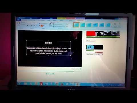 Jak Skrócić Wyciąć Fragment Filmu Dodać Napisy w Programie Windows Movie Maker