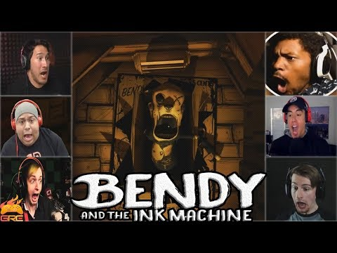 Gamers Reactions to The Butcher Gang (Jumpscare)   Bendy and The Ink Machine - Chapter 3