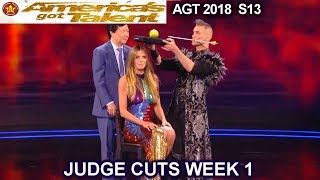 Aaron Crow mentalist Performance with Judges Comments America's Got Talent 2018 Judge Cuts 1 AGT