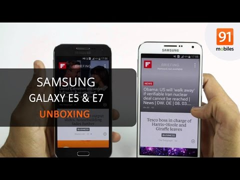 Samsung Galaxy E5 and E7: Unboxing | Hands on | Price