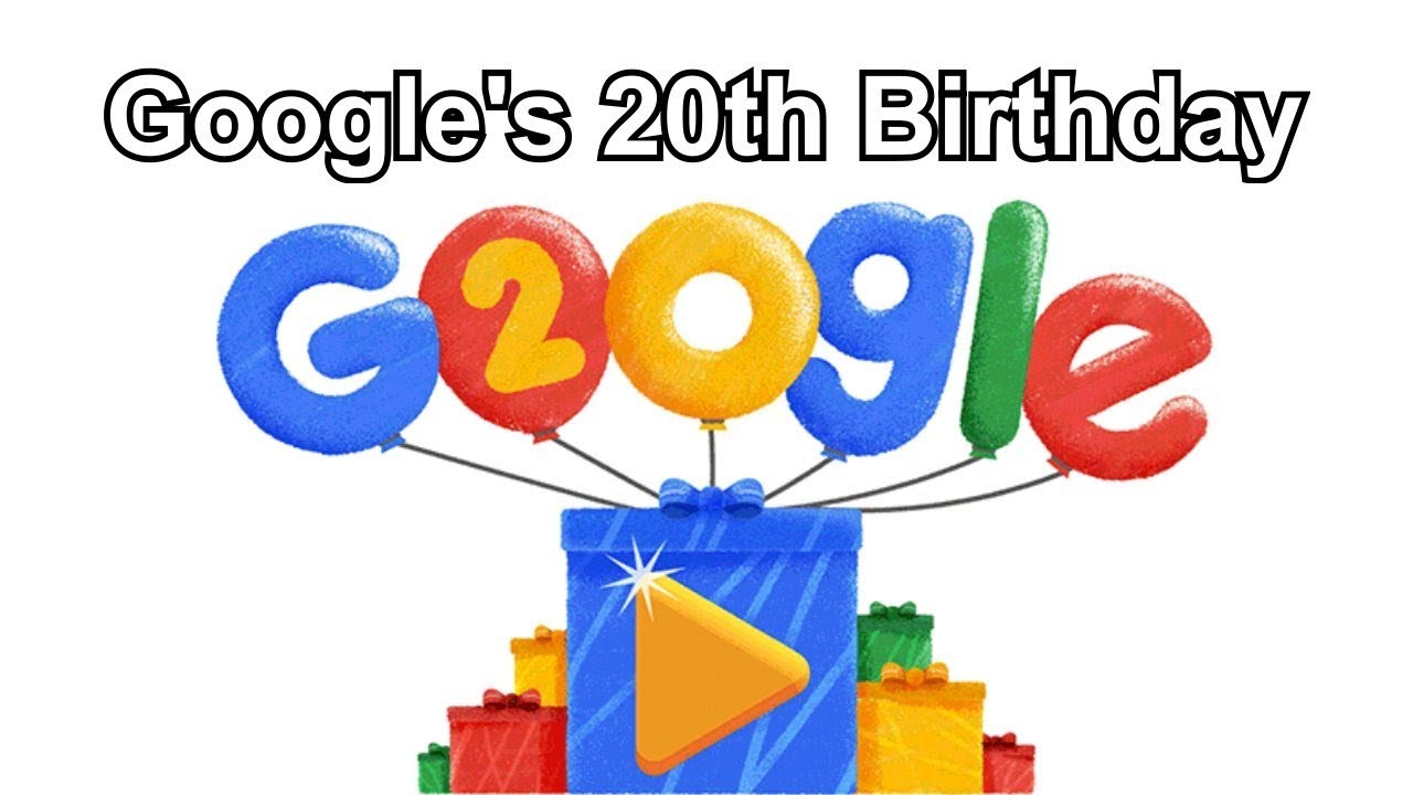 Image result for google 20th birthday