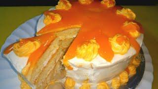 Homemade orange cake (healthier than bakery)
