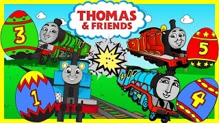 Thomas and Friends Surprise Eggs ♦ Learn Colors and Numbers ♦ Animated Toy Trains for Kids