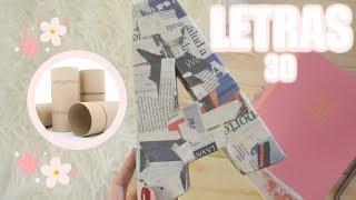 DIY decora tu CUARTO con LETRAS 3D | Manualidades Fáciles | El Taller de AJ