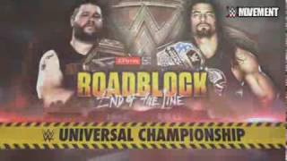 WWE Roadblock: End of the Line 2016 Kevin Owens vs Roman Reigns Official Match Card