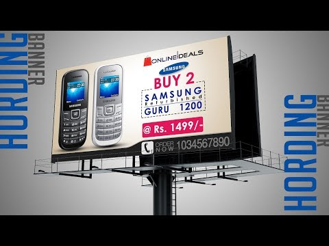 How To Design Advertising Hoarding Banner Free Online Watching