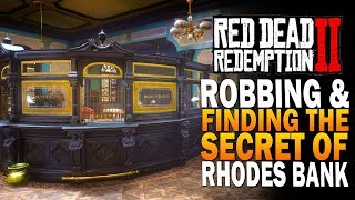 Glitching Into The Rhodes Bank, Robbing & Finding Its SECRET! Red Dead Redemption 2 Secrets