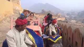 Jaipur, FUERTE AMBER  - Paseo por Elefante HD VIDEO