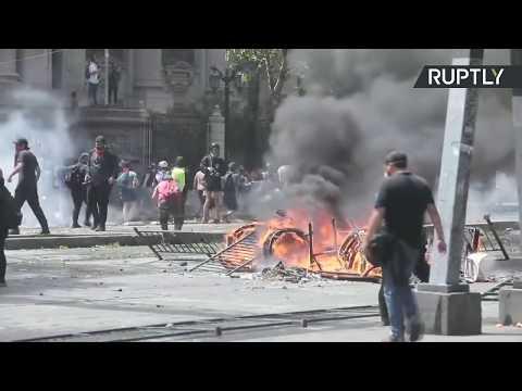 Violent protests in Santiago, Chile continue