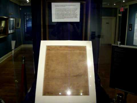 Rare Copy of Declaration of Independence - YouTube