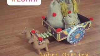 DIY Cart Dryfruit  packing/ wedding card presentation Idea