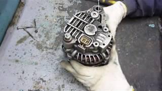 Ремонт и проверка генератора Mitsubishi Pajero