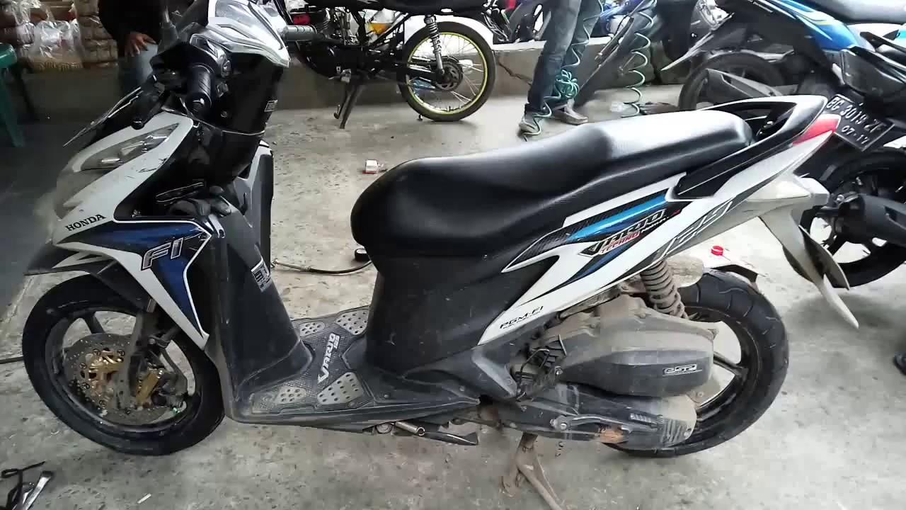 Honda Vario Techno 125 Putih Fi Ban Zeneos Depan 90 80 14 Dan