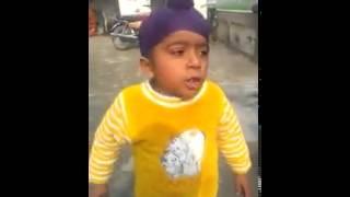 A Punjabi KId sing national anthem