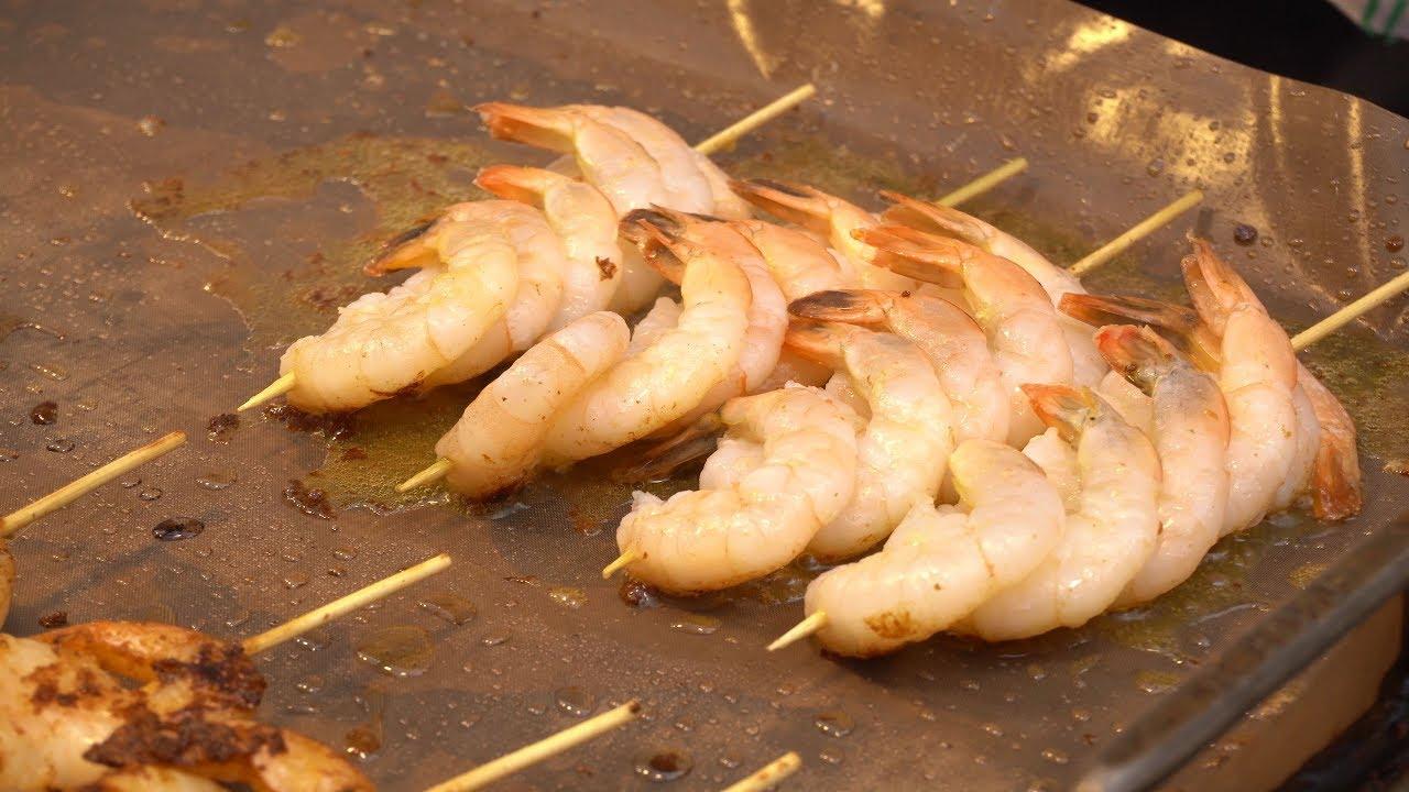 줄서서먹는 버터새우구이 / big Butter Grilled Shrimp バタエビ焼き / korean street food /  한국 길거리음식