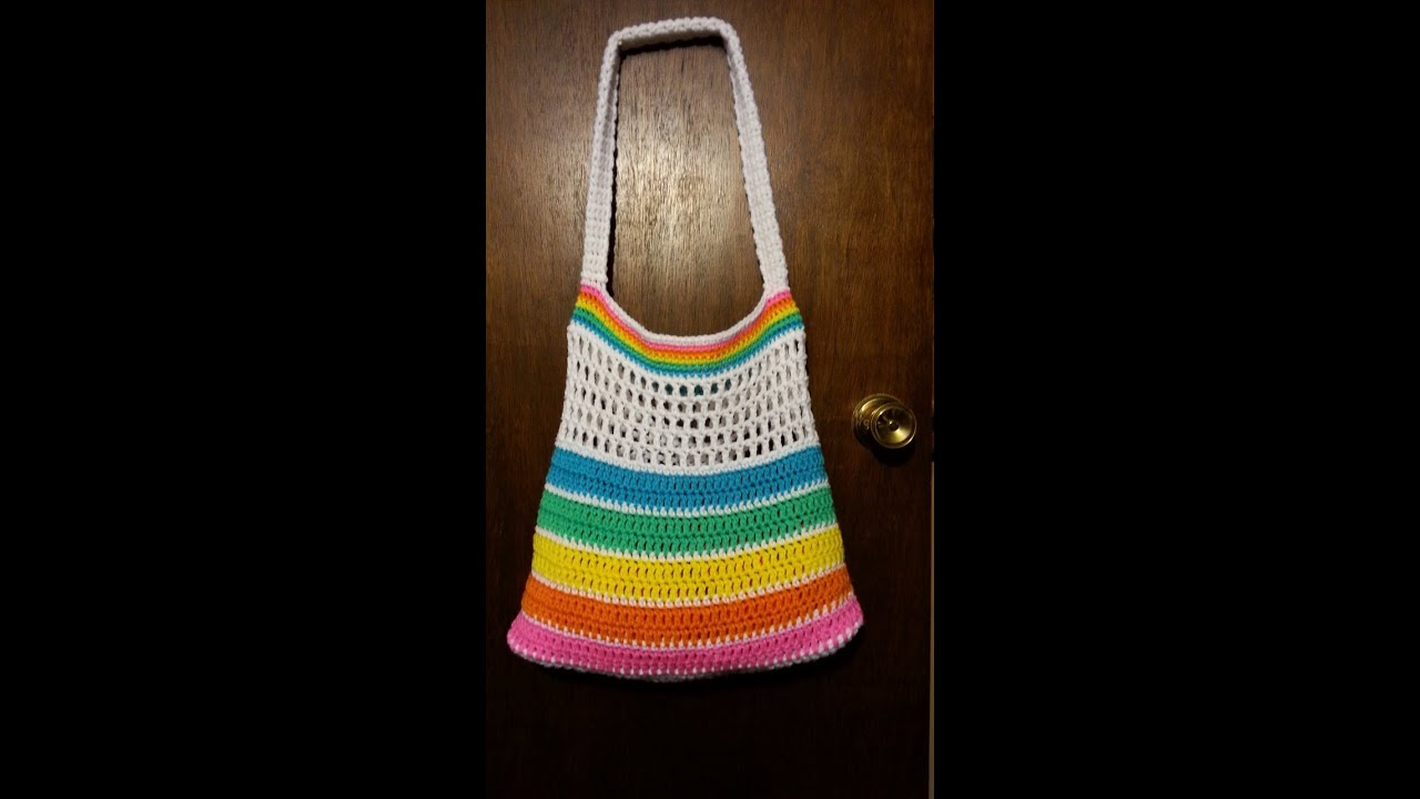 CROCHET How To #Crochet Rainbow Bright Summer Beach #beachbag ...