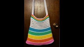 How To #Crochet a bag | Summer Beach Bag | BAGODAY CROCHET Tutorial #50