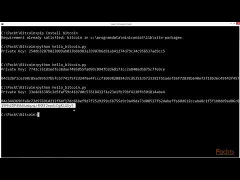 Get Started with Python Bitcoin Program : Programming Bitcoin with Python | packtpub.com