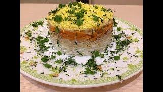 Диетический салат мимоза с тунцом.
