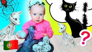 Stefy e pai - crianças história doces ou travessuras de Halloween