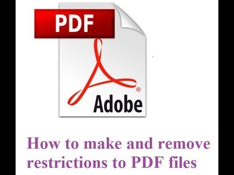 How To Restrict Pdf From Editing, Copying, Printing And How To Remove Password From PDF Files
