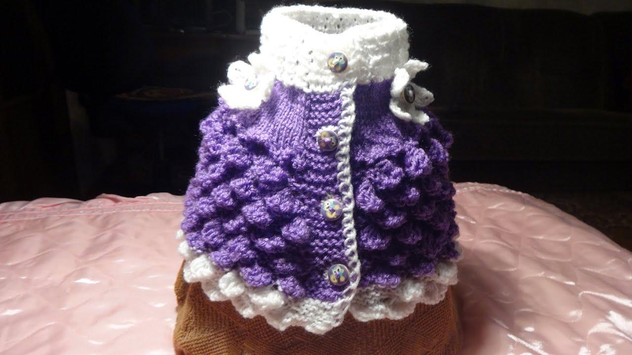 схемы вязания очень красивой манишки
