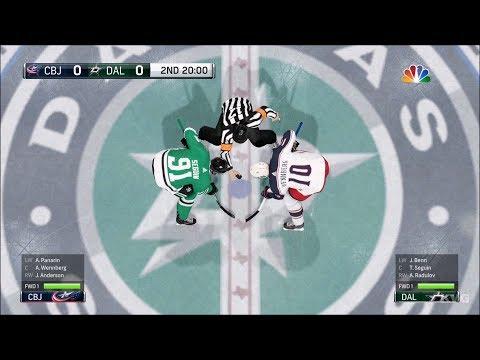 NHL 18 - Dallas Stars vs Columbus Blue Jackets - Gameplay (HD) [1080p60FPS]