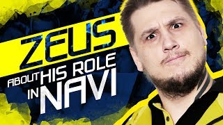 Zeus about his role in NAVI