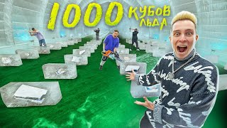Hid 1000 PRIZES in 1000 ICE CUBES!